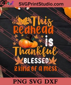 Redhead Thankful Thanksgiving SVG PNG EPS DXF Silhouette Cut Files